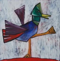 cubist duck acrylic on canvas100 x 100 cm