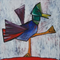 cubist duck acrylic on canvas100 x 100 cm